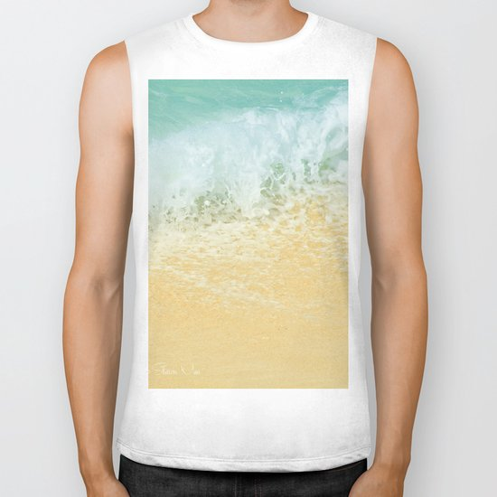 Kite Beach Ocean Splash Biker Tank