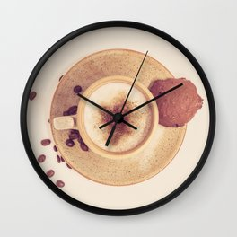 Vintage Coffee Love Photography Wall Clock