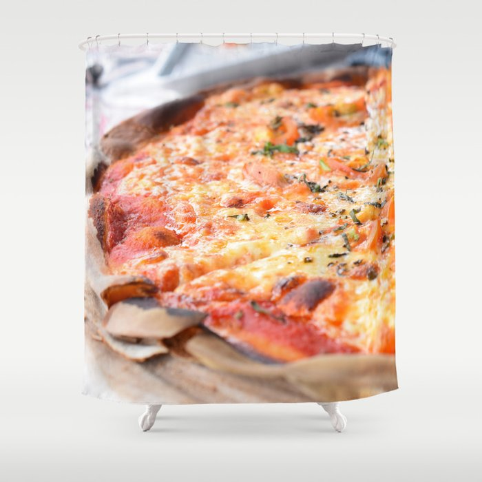 Pizza Shower Curtain By Umeimages