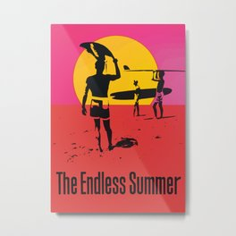 California Summer Surf from The Endless Waves Metal Print