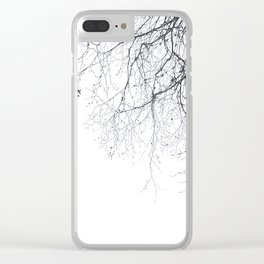 BLACK BRANCHES Clear iPhone Case