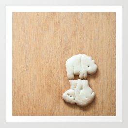 Animal Crackers - wood4 Art Print