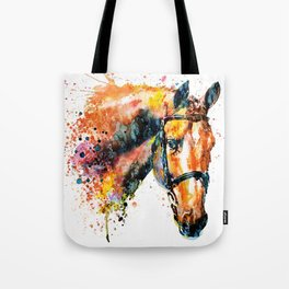 Colorful Horse Head Tote Bag