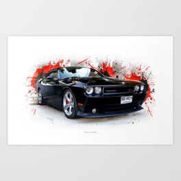 Dodge Challenger  SRT Art Print