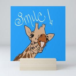 Happy Giraffe Mini Art Print
