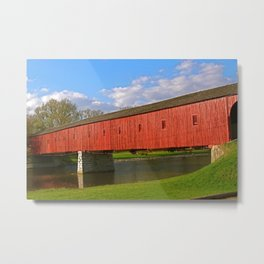 West Montrose, Ontario Covered Bridge Metal Print