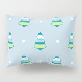 Blue Frost Holiday Bells Pillow Sham