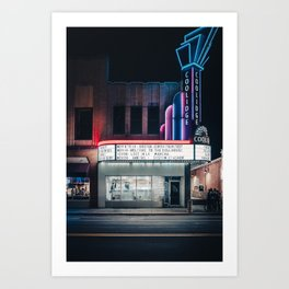 Coolidge Corner Theatre Boston Art Print