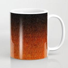 Orange & Black Glitter Gradient Coffee Mug