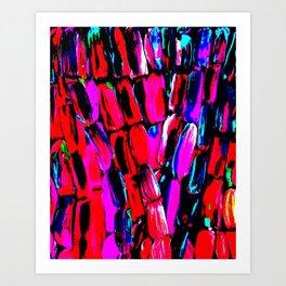 Dark Red Sugarcane Art Print