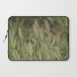 Wild Grass in Sage and Pink Lemonade Laptop Sleeve