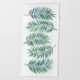Palm Leaves Beach Towel