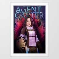 agent carter Art Prints featuring Agent Carter. by tantoun