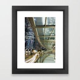 Hong Kong-Night View Framed Art Print
