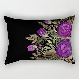 Purple rose watercolor Rectangular Pillow