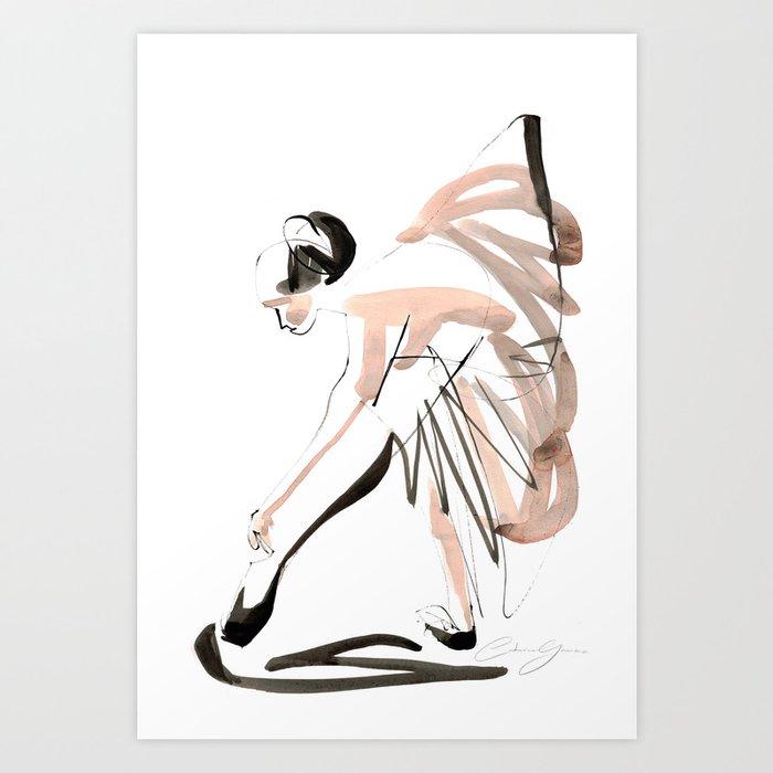 Gesture Dance Drawing Art Print