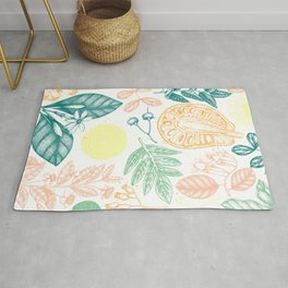 Exotic Plant Poster Rug