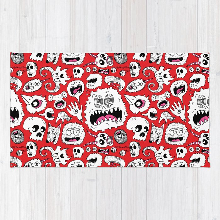 Another Monster Pattern Rug