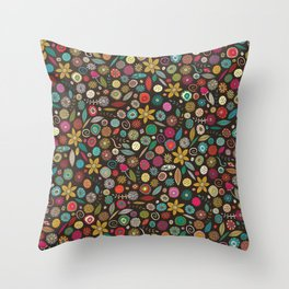 daffodil pop Throw Pillow