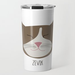 Family Cat Portraits, Zevik Travel Mug