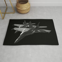 US Military Fighter Attack Jets Rug