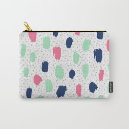 Pink blue brush strokes pattern Carry-All Pouch