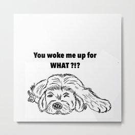 Moody dog Metal Print