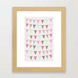 Spring Bunting Flags Framed Art Print