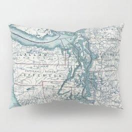 Puget Sound Map Pillow Sham