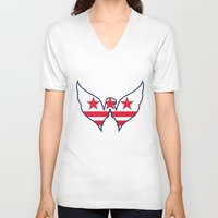 dc V-neck T-shirts featuring DC Captials by Cultivate Bohemia