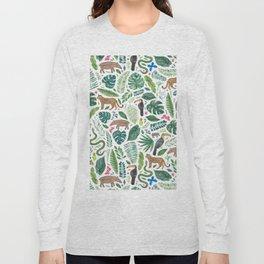 Jungle/Tropical Pattern Long Sleeve T-shirt