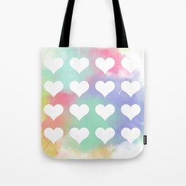 Painted Hearts Tote Bag
