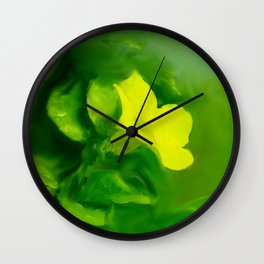 Yellow Mandevilla Flower Wall Clock