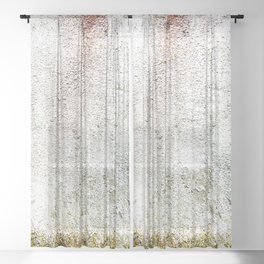 Abstract wall red painting Sheer Curtain