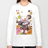 donuts Long Sleeve T-shirts featuring Donuts by Coralus