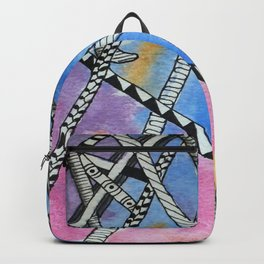 Aquarell and Pen Abstract 2 Backpack