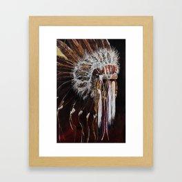 native headress Framed Art Print