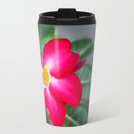 Resplendent exotic flower -Adenium Obesum Travel Mug
