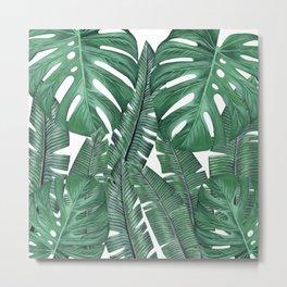 Tropical Leaves Art Print Metal Print