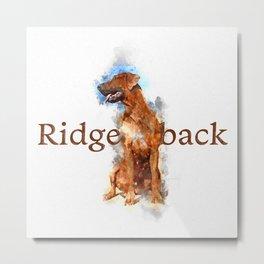 Rhodesian Ridgeback Metal Print