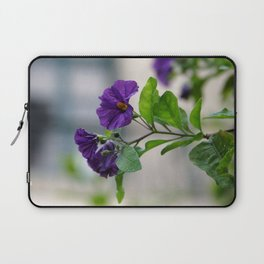 Solanum Rantonnetii With Garden Background  Laptop Sleeve