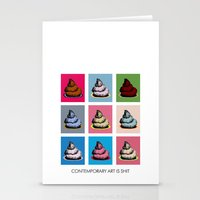 contemporary Stationery Cards featuring Contemporary art by Misha Libertee