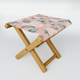 Watercolor Roses in Soft Pink Folding Stool