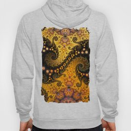 Golden dragon spirals and circles, fractal art Hoody