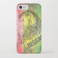 reggae iPhone & iPod Cases featuring Reggae Lions by Teo Designs