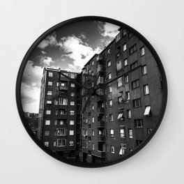 Ugly Buildings Wall Clock
