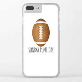 Sunday Punt-day Clear iPhone Case
