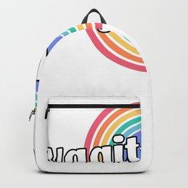 Vagitarian Lesbian Gay Couple Funny LGBTQ Retro Backpack
