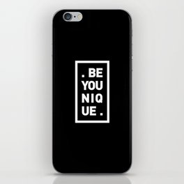 YOU AND YOURSELF (BLK) iPhone Skin