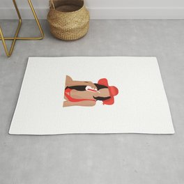 Red Hat Sexy Girl Rug